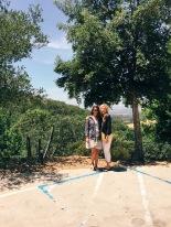 My mom and I outside of Moone-Tsai (pronounced Moon Chai) in Napa!!