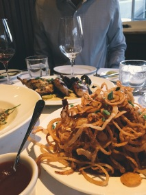 Shoestring fries at Mustards Restaurant