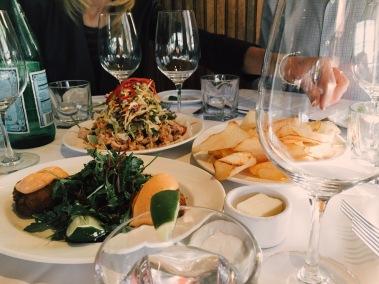 Crab Cakes, Calamari, & Chips. Triple C's at Mustards.